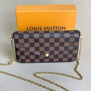 LOUIS VUITTON Damier Ebene Felicie Pochette Bag